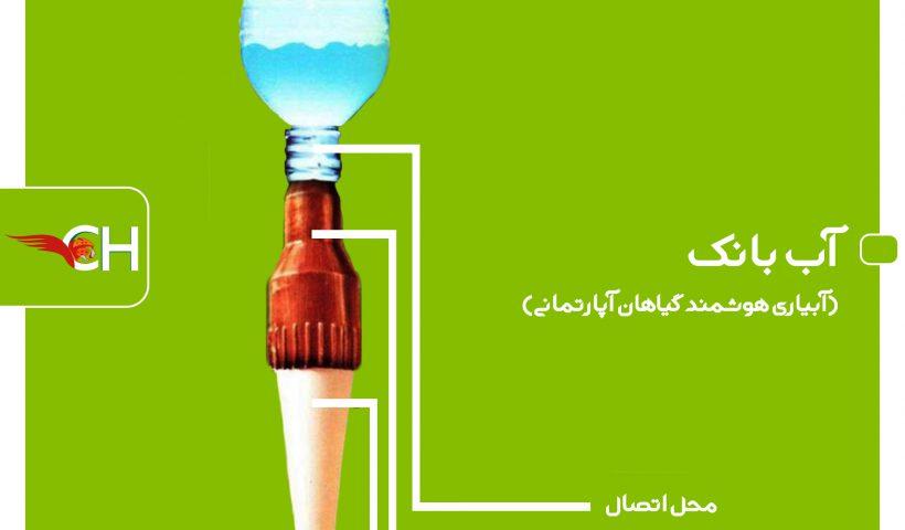 آب بانک جهت آبیاری هوشمند گیاهان آپارتمانی